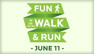 fun, walk, run logo